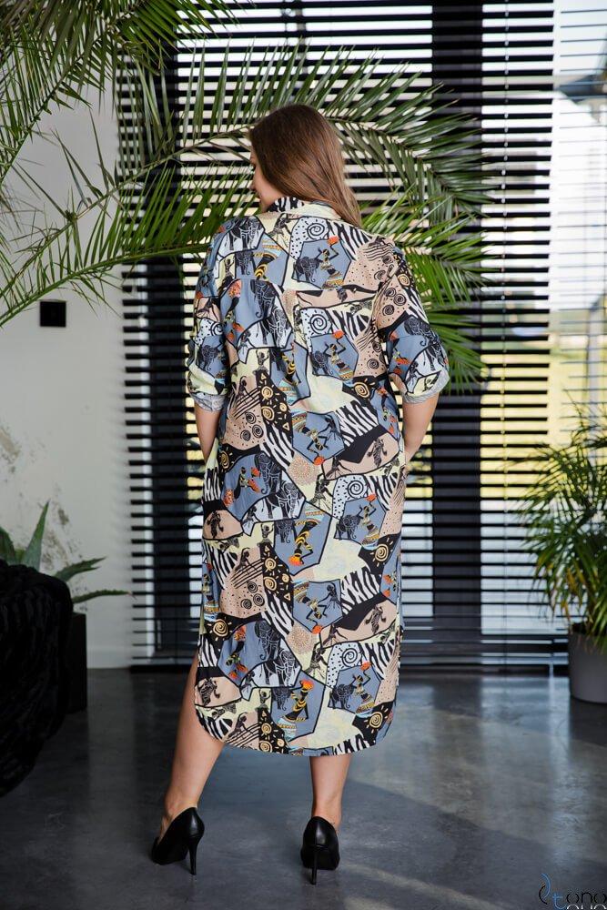 Sukienka AFRICA Plus Size Wzór 5