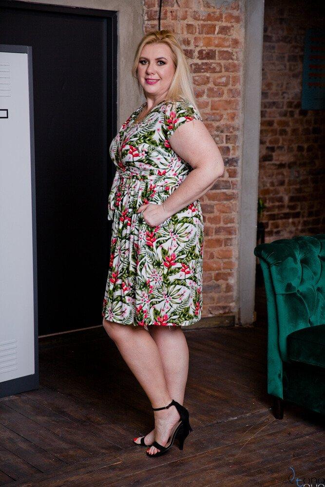 Sukienka AGOSTA Plus Szie Wzór 2