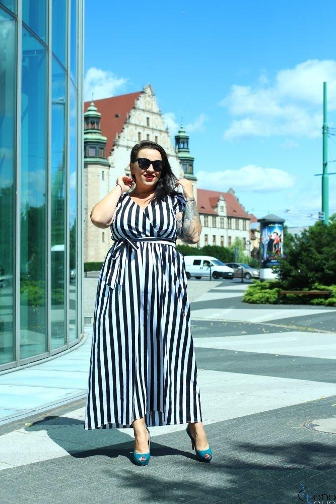Sukienka ARGINA Plus Size Maxi Wzór 1