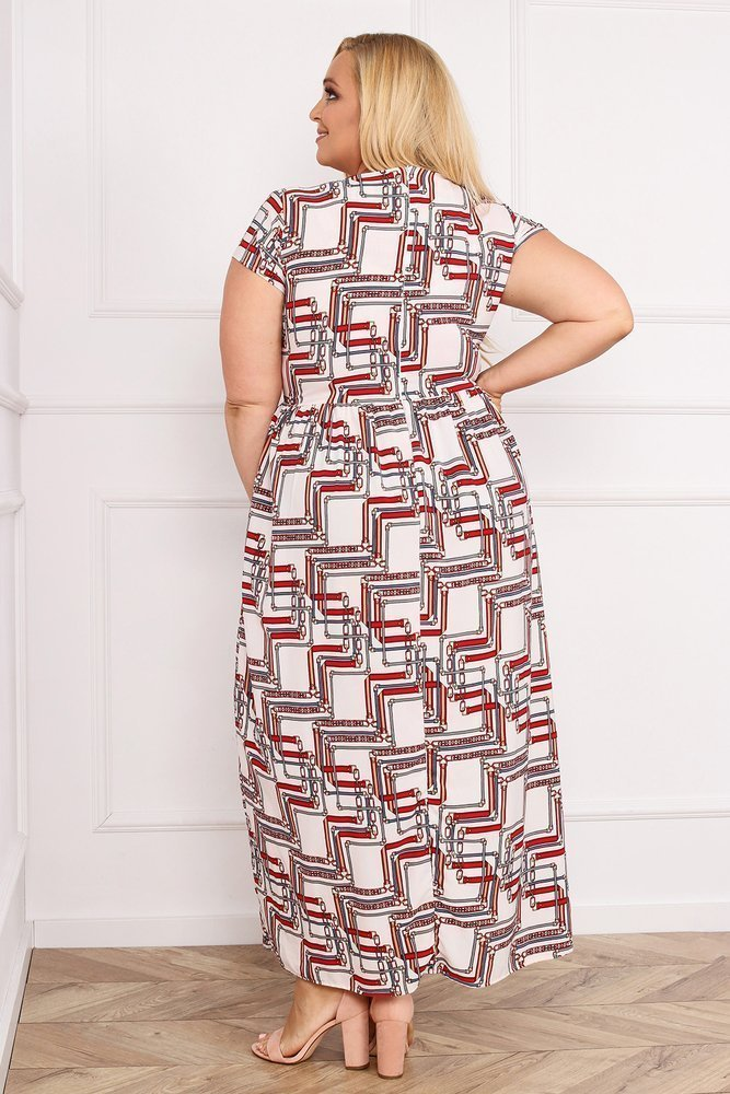 Sukienka ARGINA Plus Size Maxi Wzór 4