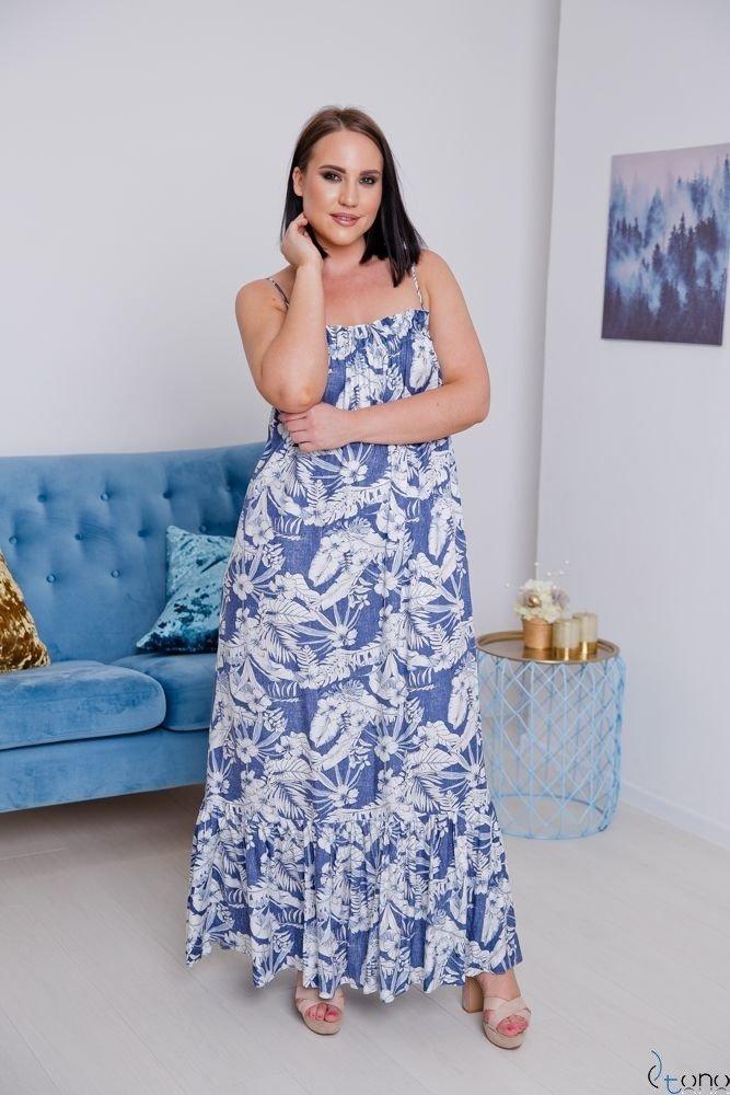 Sukienka CHLOE Plus Size Maxi Wzór 1