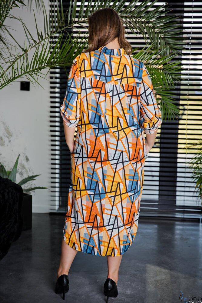 Sukienka CRONACA Plus Size Wzór 3