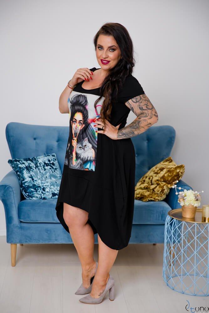 Sukienka FELICCIA Plus Size Wzór 1
