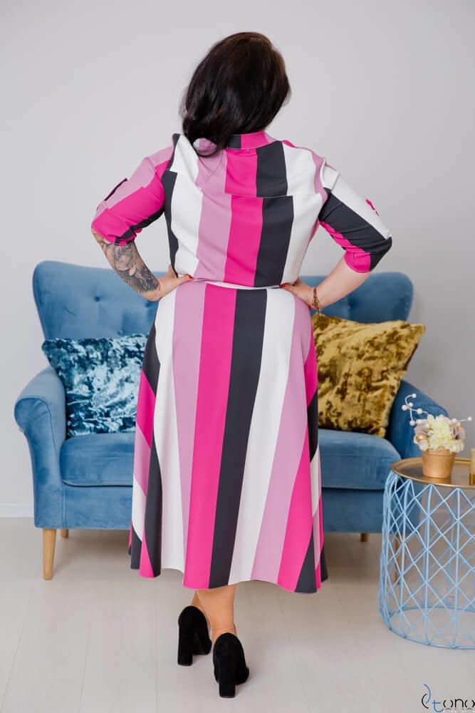 Sukienka RAVELA Plus Size Wzór 3