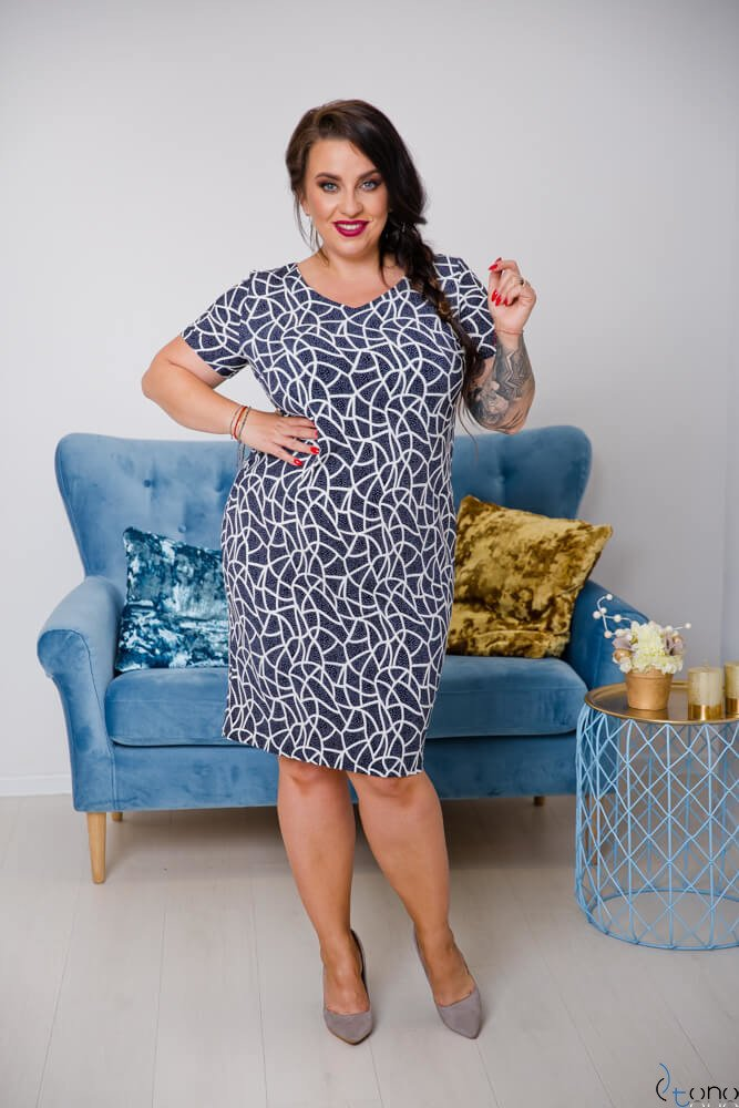 Sukienka STAMPINA Plus Size Wzór 1