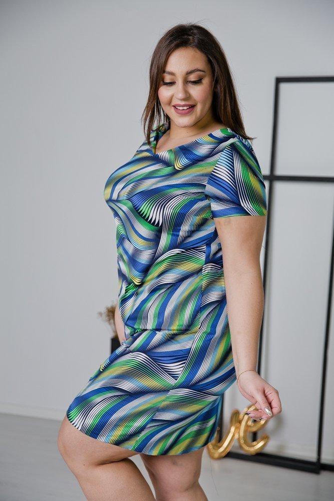 Sukienka STAMPINA Plus Size Wzór 25