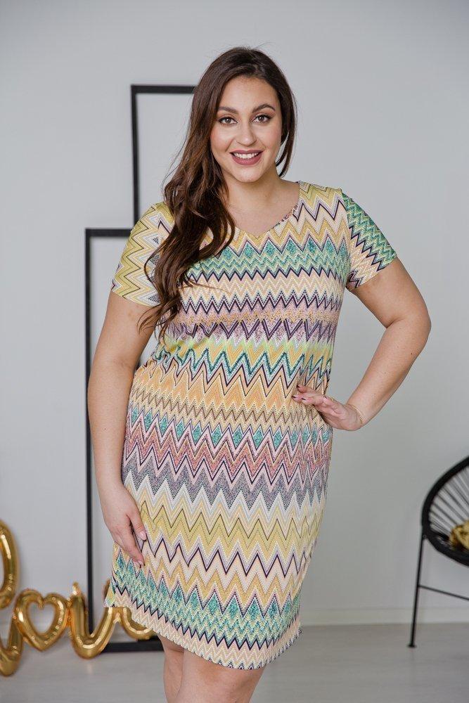 Sukienka STAMPINA Plus Size Wzór 27