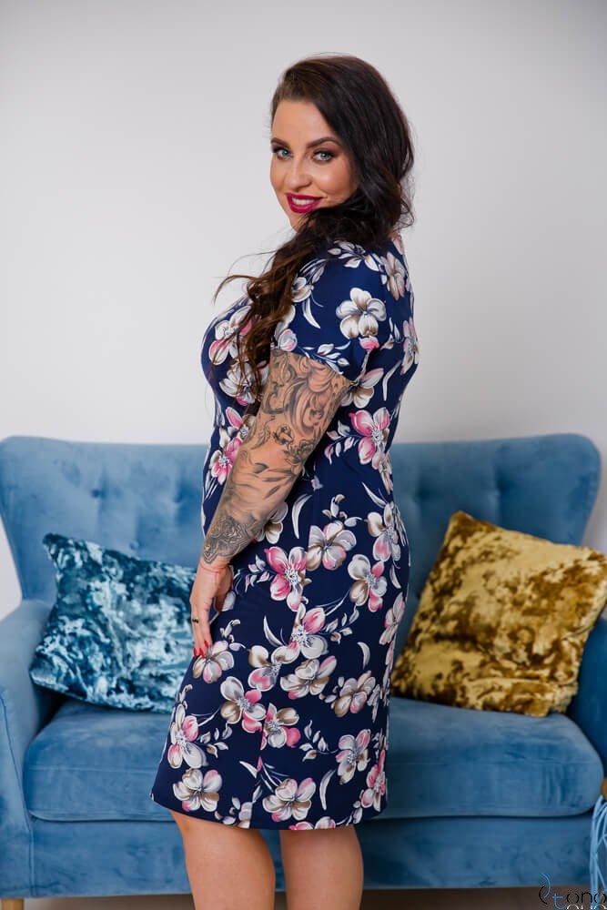 Sukienka STAMPINA Plus Size Wzór 8