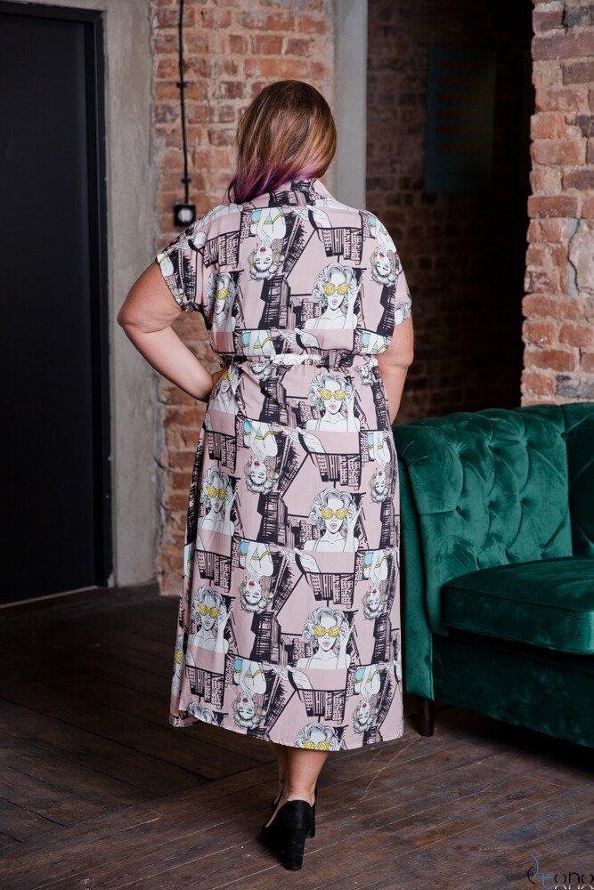 Sukienka TEBEO Plus Size Wzór 1