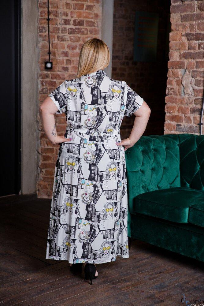 Sukienka TEBEO Plus Size Wzór 4