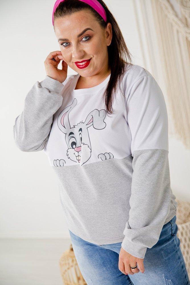 Szara Bluza DOLI Plus Size Wzór 3