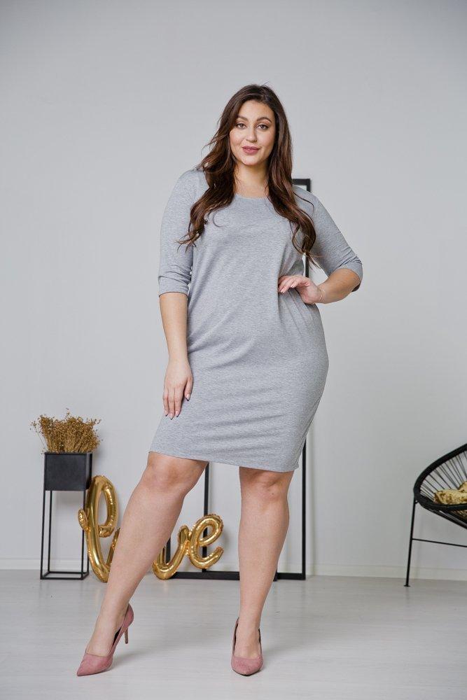 Szara Sukienka MISTRA Plus Size