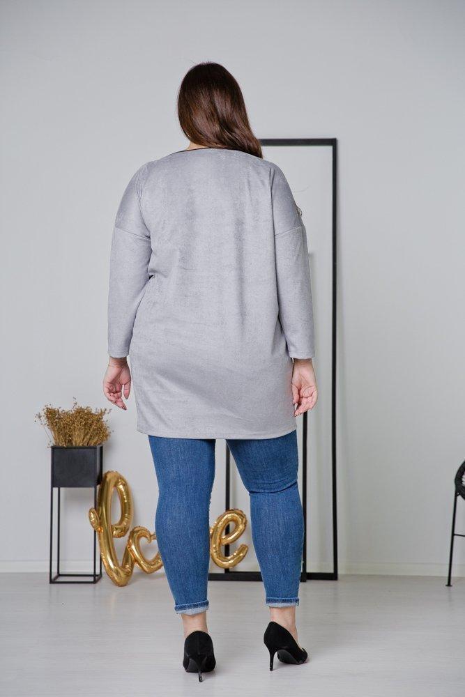 Szara Tunika TAMENA Plus Size