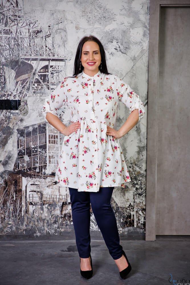 Tunika KAFTA Plus Size Koszulowa Wzór 7