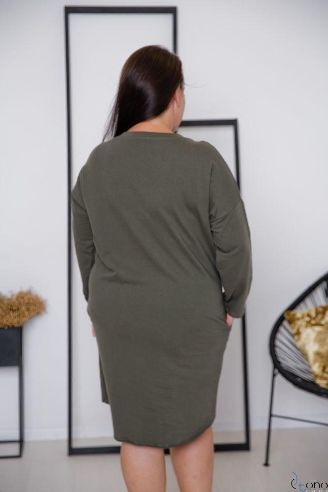 Tunika Khaki MIGELA Plus Size Wzór 1