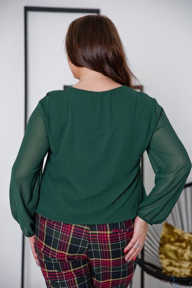 Zielona Bluzka FONDATA Plus Size