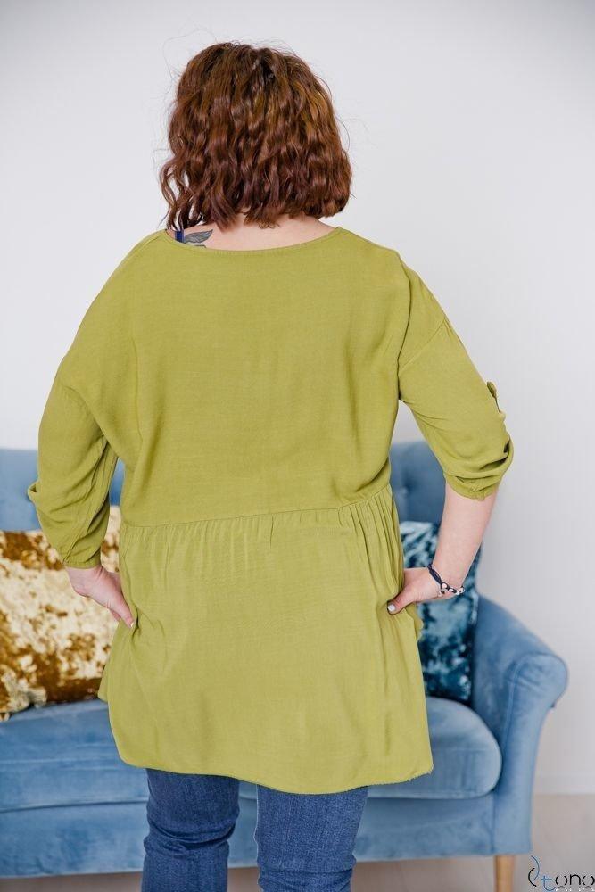 Zielona Bluzka OLTERIS Plus Size