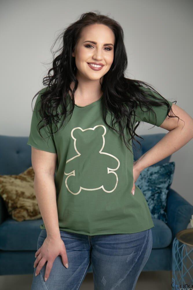 Zielona Bluzka WINEY Plus Size