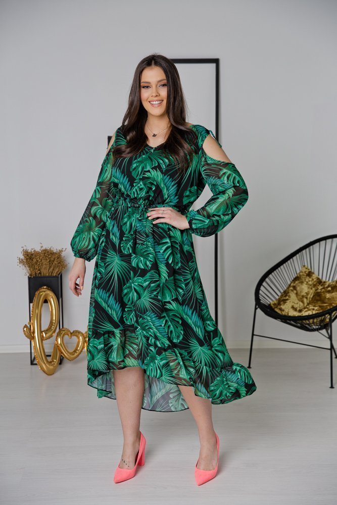 Zielona Sukienka FORENA Plus Size