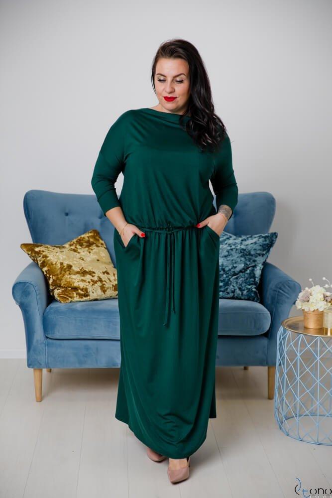 Zielona Sukienka MEFFI Plus Size Maxi