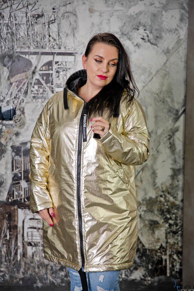 Złota Kurtka CONY Plus Size