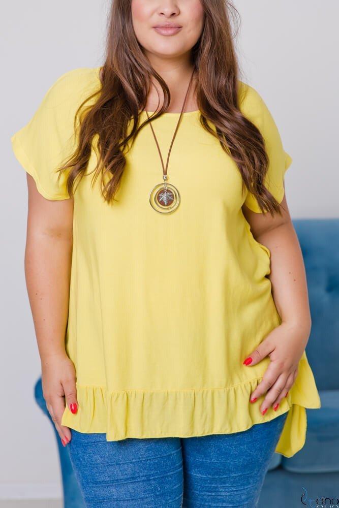Żółta Bluzka OLTERIA Plus Size