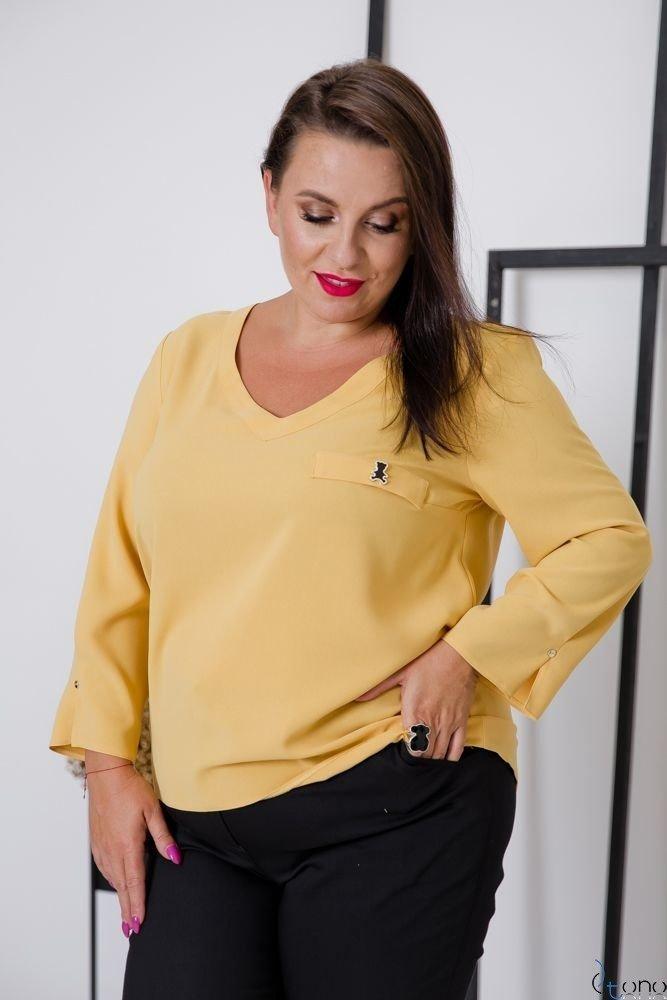 Żółta Bluzka RAFAELA Plus Size