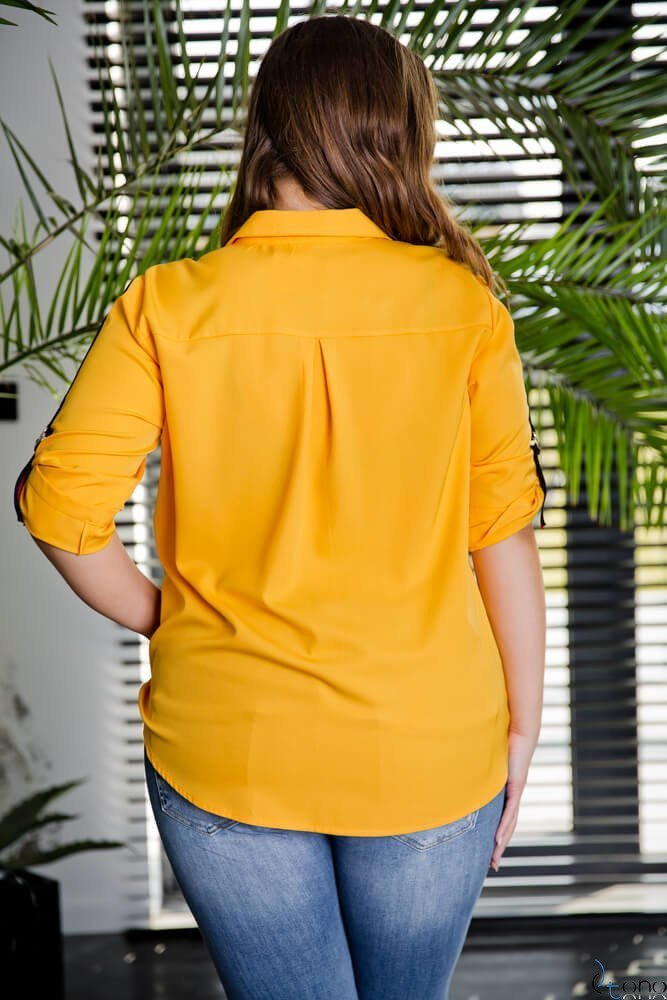 Żółta Koszula PERIOD Plus Size
