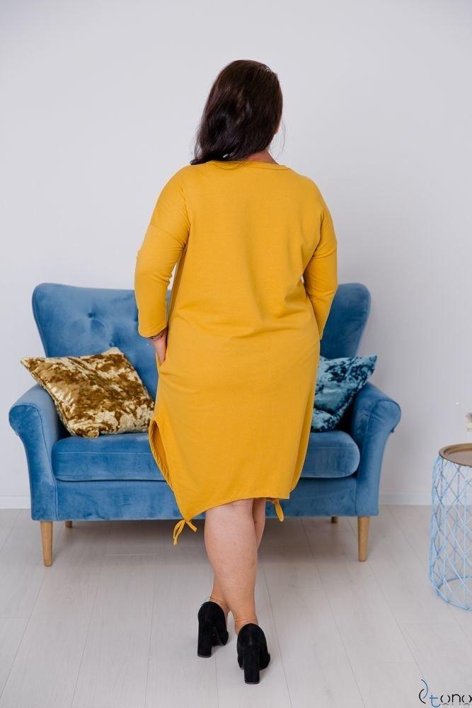 Żółta Tunika CUBANA Plus Size