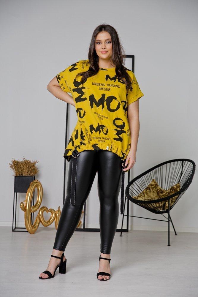 Żółta Tunika MOMO Plus Size