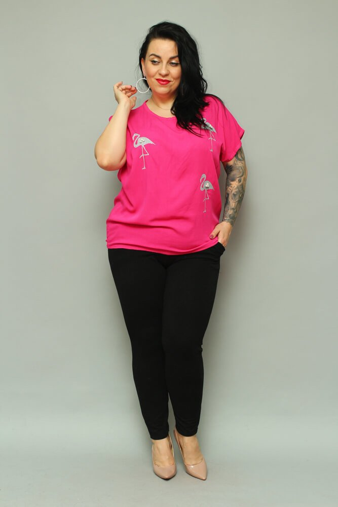 Amarantowa bluzka damska BRESSA Flaming Plus Size