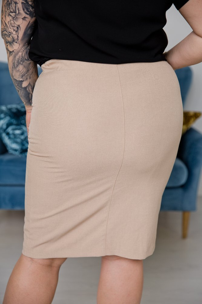 Beżowa Spódnica ENVA Plus Size