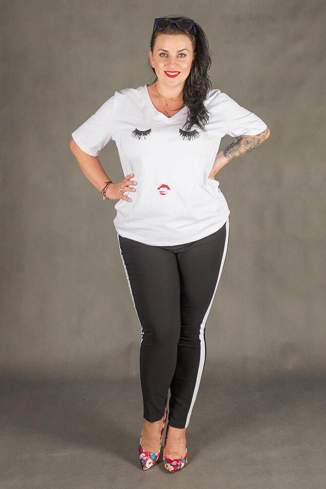 Biała Bluzka FACE T-shirt Plus Size