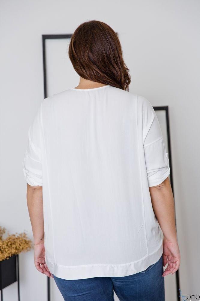 Biała Bluzka INSIDE Plus Size