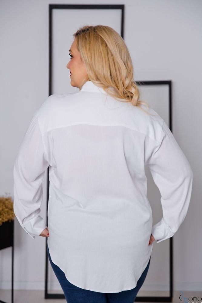 Biała Koszula FILARES Plus Size