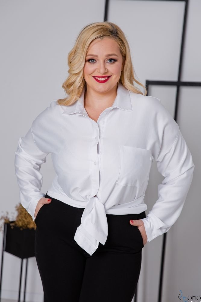 Biała Koszula ULTIVA Plus Size