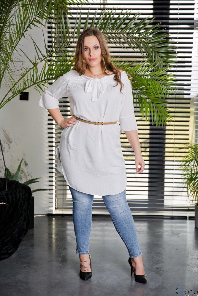 Biała Tunika MANOLLA Plus Size