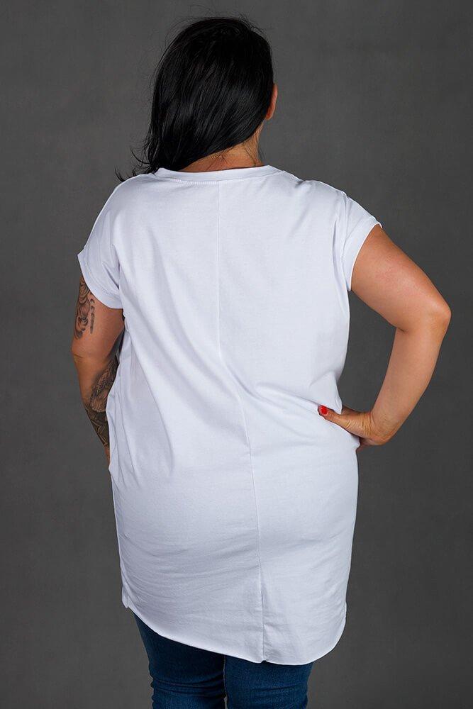 Biała Tunika SOVA Plus Size