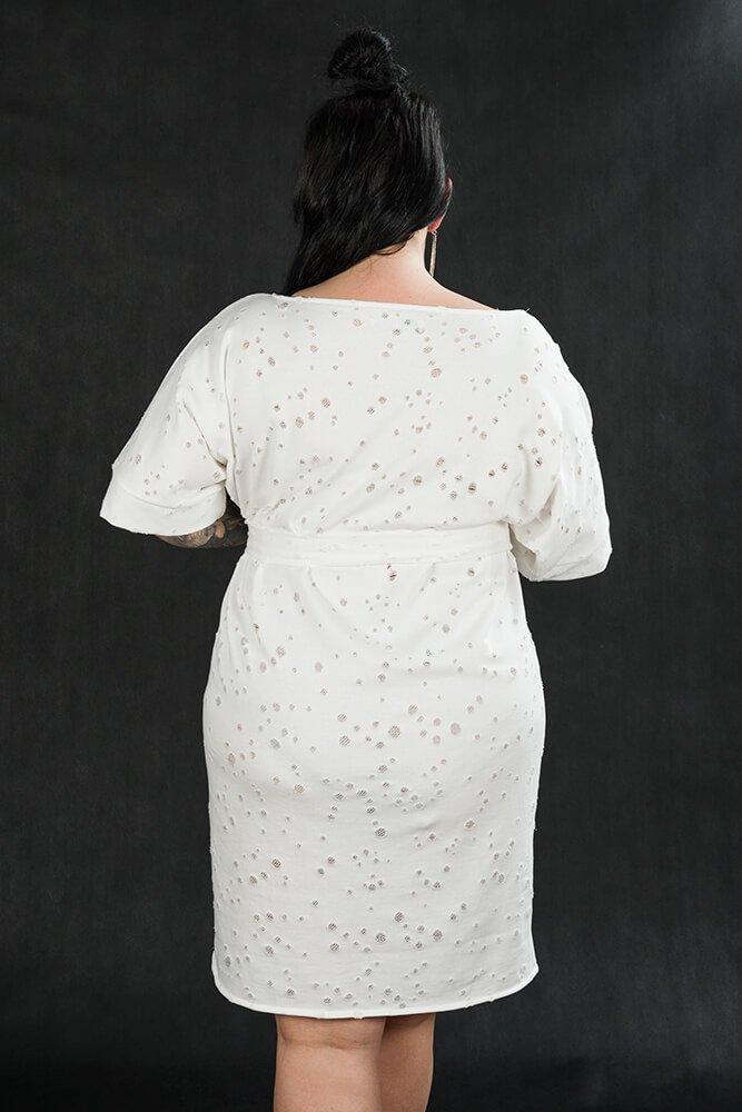 Biała Tunika TRAPPA Designerska Plus Size