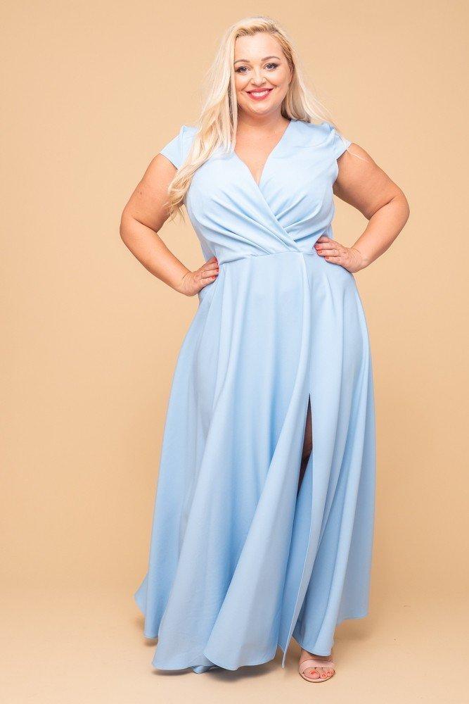 Błękitna Sukienka LOREDANA Plus Size