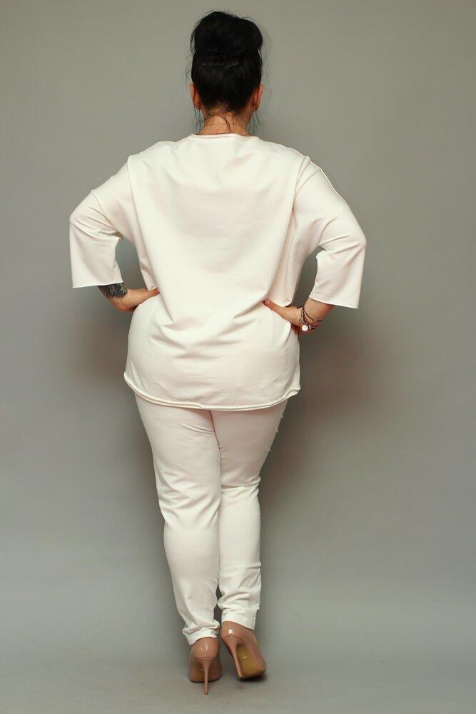 Bluza damska LOGGIA Plus Size ecru
