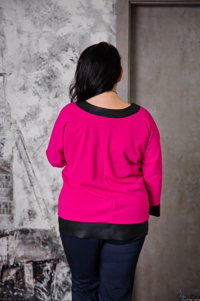 Bluzka MERRIDA Fuksja Plus Size
