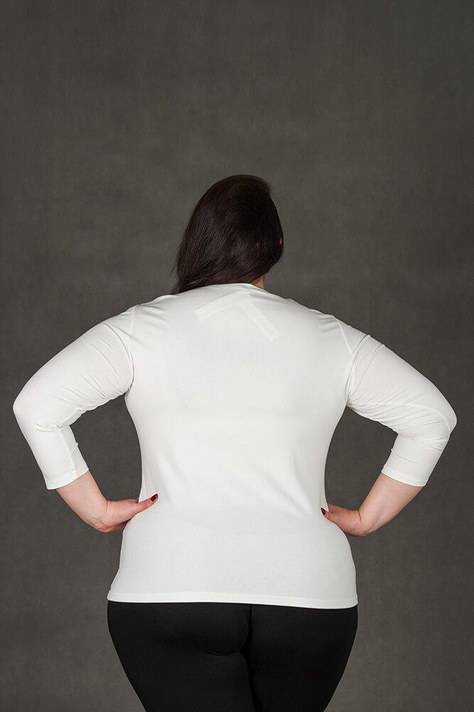 Bluzka damska ROZA Duże Rozmiary ecru