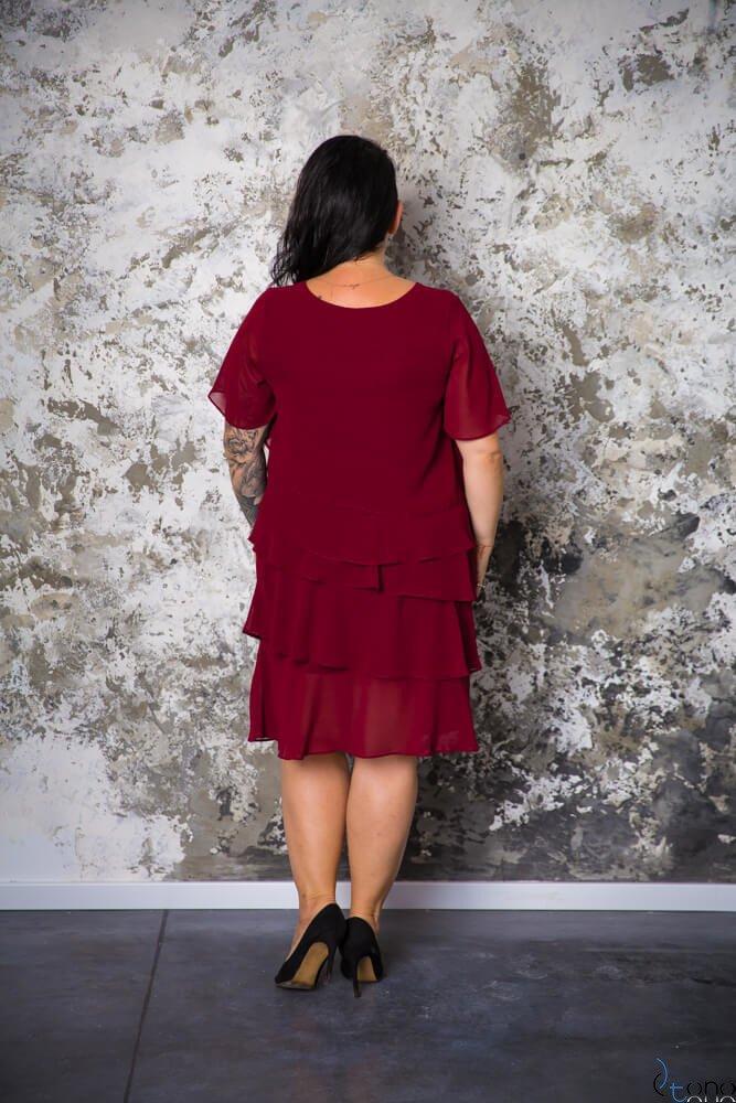 Bordowa Sukienka ORINA Plus Size