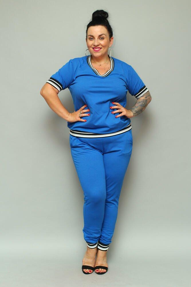 Chabrowa Bluza NILDA Plus Size Dresowa