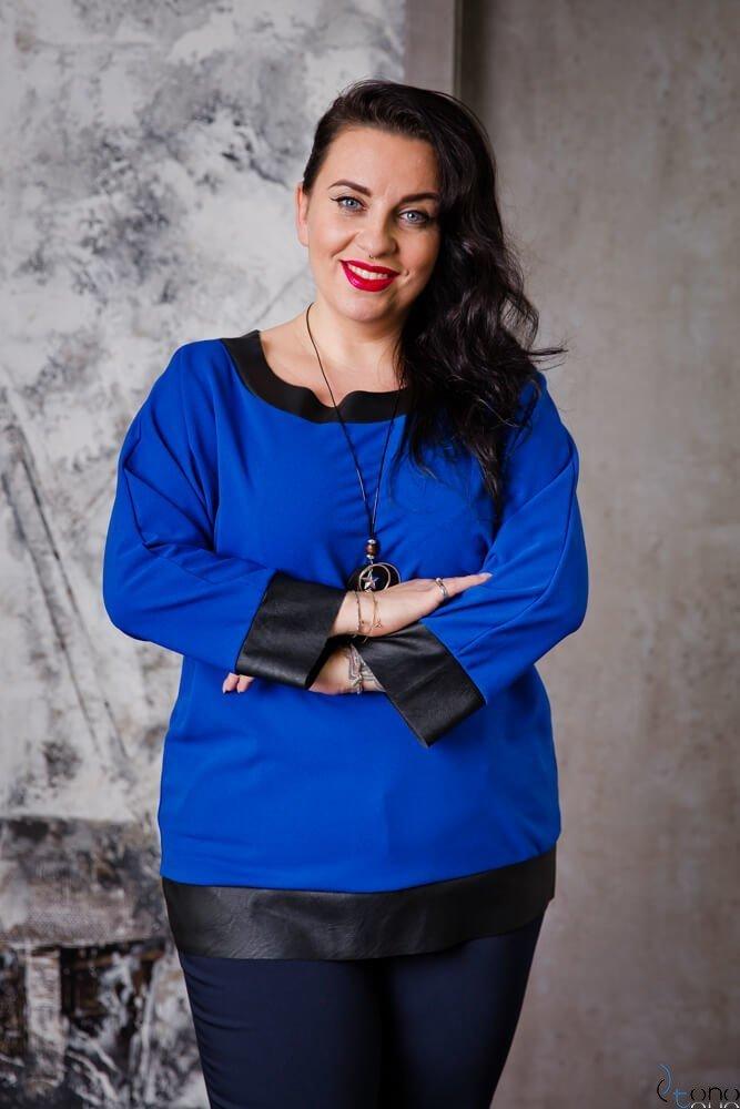 Chabrowa Bluzka MERRIDA Plus Size