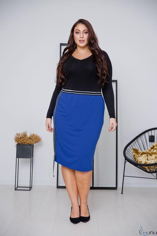 Chabrowa Spódnica LAURA Plus Size