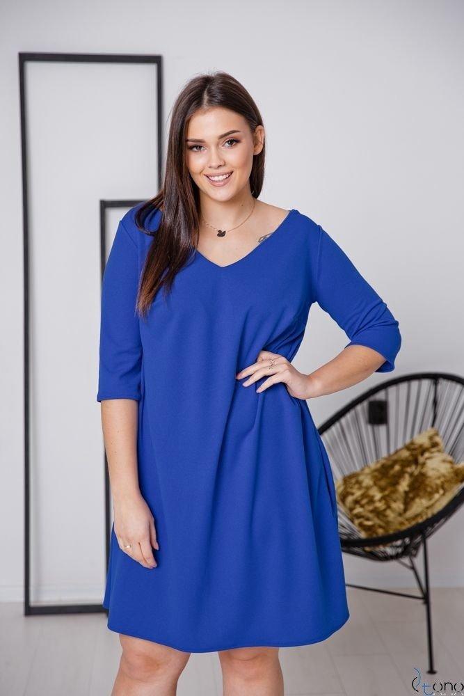 Chabrowa Sukienka AFETIA Plus Size