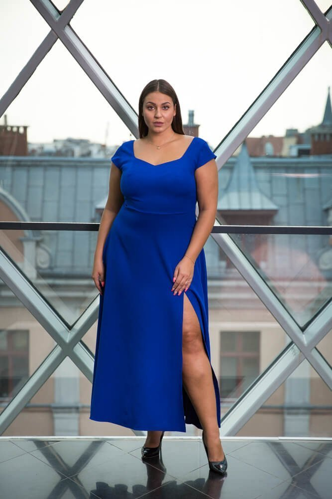 Chabrowa Sukienka NANCY Plus Size