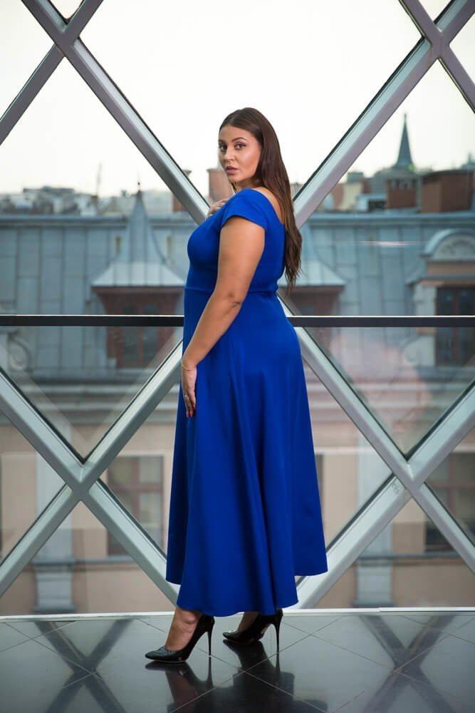 Chabrowa Sukienka NANCY Plus Size
